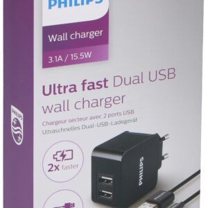 usb charger Phillips 2 port