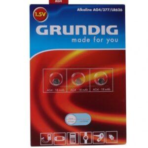 Knoopcelbatterijen AG4 3 stuks